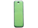 Enameled Copper Rectangle - Pea Green 38mm (EC707)