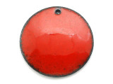 Enameled Copper Disc - Oriental Red 25mm (EC405)