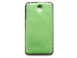 Enameled Copper Rectangle - Pea Green 25mm (EC708)