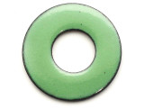 Enameled Copper Ring - Pea Green 25mm (EC709)