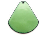 Enameled Copper Drop - Pea Green 38mm (EC710)