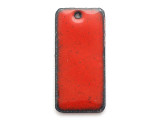 Enameled Copper Rectangle - Oriental Red 25mm (EC408)
