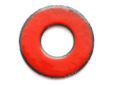 Enameled Copper Ring - Oriental Red 25mm (EC409)