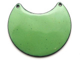 Enameled Copper Crescent - Pea Green 38mm (EC712)