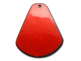 Enameled Copper Drop - Oriental Red 38mm (EC410)