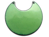 Enameled Copper Crescent - Pea Green 50mm (EC713)