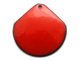 Enameled Copper Wide Drop - Oriental Red 38mm (EC411)