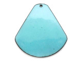 Enameled Copper Drop - Retro Aqua Blue 38mm (EC110)