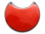 Enameled Copper Crescent - Oriental Red 38mm (EC412)