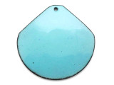 Enameled Copper Wide Drop - Retro Aqua Blue 38mm (EC111)