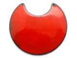 Enameled Copper Crescent - Oriental Red 50mm (EC413)
