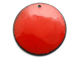 Enameled Copper Disc - Oriental Red 38mm (EC414)