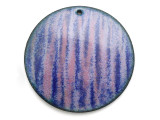 Enameled Copper Disc - Purple w/Stripes 38mm (EC28)