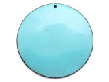 Enameled Copper Disc - Retro Aqua Blue 50mm (EC115)