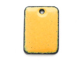 Enameled Copper Rectangle - Dandelion Yellow 18mm (EC202)