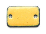 Enameled Copper Rectangle - Dandelion Yellow 18mm (EC203)