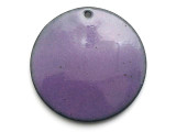 Enameled Copper Disc - Iris Purple 25mm (EC505)