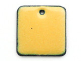 Enameled Copper Square - Dandelion Yellow 18mm (EC204)