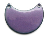 Enameled Copper Crescent - Iris Purple 25mm (EC506)
