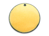 Enameled Copper Disc - Dandelion Yellow 25mm (EC205)