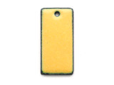 Enameled Copper Rectangle - Dandelion Yellow 25mm (EC208)