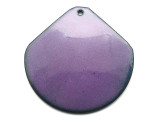 Enameled Copper Wide Drop - Iris Purple 38mm (EC511)