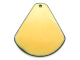 Enameled Copper Drop - Dandelion Yellow 38mm (EC210)