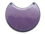 Enameled Copper Crescent - Iris Purple 38mm (EC512)