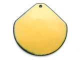 Enameled Copper Wide Drop - Dandelion Yellow 38mm (EC211)