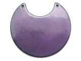 Enameled Copper Crescent - Iris Purple 50mm (EC513)