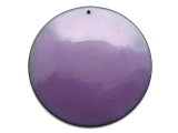 Enameled Copper Disc - Iris Purple 50mm (EC515)