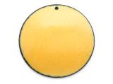 Enameled Copper Disc - Dandelion Yellow 38mm (EC214)
