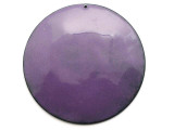 Enameled Copper Disc - Iris Purple 62mm (EC516)
