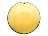 Enameled Copper Disc - Dandelion Yellow 50mm (EC215)