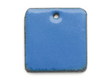Enameled Copper Square - Indigo Blue 18mm (EC304)