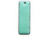 Enameled Copper Rectangle - Turquoise 38mm (EC607)