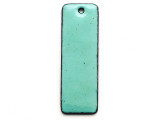 Enameled Copper Rectangle - Turquoise 38mm (EC607)
