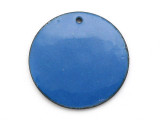 Enameled Copper Disc - Indigo Blue 25mm (EC305)
