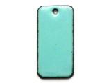 Enameled Copper Rectangle - Turquoise 25mm (EC608)
