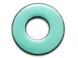 Enameled Copper Ring - Turquoise 25mm (EC609)
