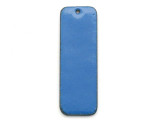 Enameled Copper Rectangle - Indigo Blue 38mm (EC307)