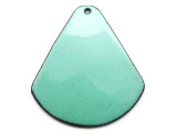 Enameled Copper Drop - Turquoise 38mm (EC610)