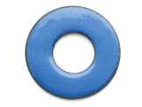 Enameled Copper Ring - Indigo Blue 25mm (EC309)