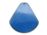 Enameled Copper Drop - Indigo Blue 38mm (EC310)