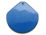 Enameled Copper Wide Drop - Indigo Blue 38mm (EC311)