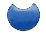 Enameled Copper Crescent - Indigo Blue 38mm (EC312)