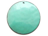 Enameled Copper Disc - Turquoise 50mm (EC615)