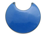 Enameled Copper Crescent - Indigo Blue 50mm (EC313)