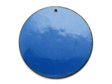 Enameled Copper Disc - Indigo Blue 38mm (EC314)