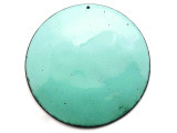 Enameled Copper Disc - Turquoise 62mm (EC616)